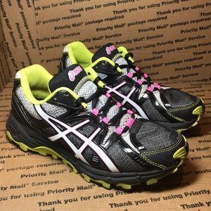 Asics Gel-Scout Black / White / Pink Athletic Shoe